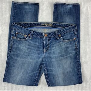American Eagle Straight 77 Faded Blue Jeans
